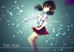 Rating: Safe Score: 42 Tags: black_hair brown_eyes kaai_yuki sazanami_shione skirt twintails vocaloid User: opai
