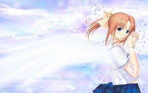 Rating: Safe Score: 24 Tags: after after_sweet_kiss blue_eyes necklace orange_hair ponytail school_uniform shiomiya_kanami taka_tony User: 秀悟