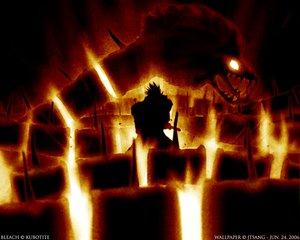 Rating: Safe Score: 25 Tags: abarai_renji all_male bleach dragon fire male red silhouette watermark weapon User: Oyashiro-sama