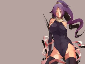 Rating: Questionable Score: 177 Tags: bleach breasts long_hair purple_hair see_through shihouin_yoruichi skintight thighhighs yellow_eyes User: jjjjjhhhhh