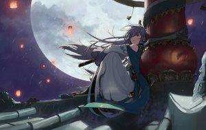 Rating: Safe Score: 65 Tags: blue_eyes fu_hua gray_hair honkai_impact katana long_hair moon night rooftop stars sword tagme_(artist) weapon User: RyuZU
