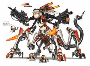 Rating: Safe Score: 173 Tags: anthropomorphism gia gun orange_eyes original robot sword tagme tail weapon white white_hair User: HawthorneKitty