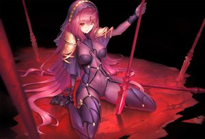 Rating: Safe Score: 115 Tags: bodysuit breasts duan_henglong fate/grand_order fate_(series) headdress long_hair purple_hair red_eyes scathach_(fate/grand_order) skintight spear weapon User: RyuZU