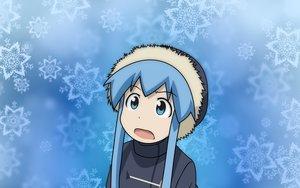 Rating: Safe Score: 49 Tags: blue_eyes blue_hair hat ikamusume loli shinryaku!_ikamusume snow vector winter User: MisakaImouto
