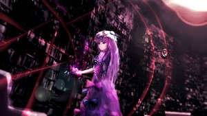 Rating: Safe Score: 66 Tags: bow dress dyolf hat long_hair patchouli_knowledge purple_hair touhou User: Flandre93
