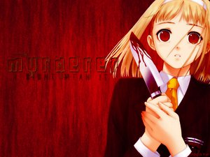 Rating: Safe Score: 31 Tags: after blonde_hair blood headband knife red red_eyes school_uniform taka_tony takawashi_nagisa weapon User: Oyashiro-sama