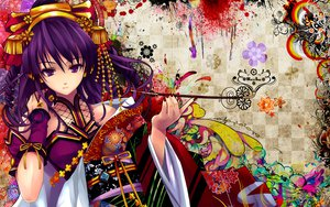 Rating: Safe Score: 245 Tags: beatmania diverse_system hifumi japanese_clothes kimono misaki_kurehito purple_hair User: snyp