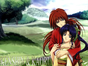 Rating: Safe Score: 14 Tags: himura_kenshin japanese_clothes jpeg_artifacts kamiya_kaoru male rurouni_kenshin scar User: Oyashiro-sama