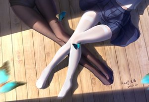 Rating: Safe Score: 163 Tags: 2girls butterfly lazy_guang_guang original pantyhose school_uniform signed User: BattlequeenYume