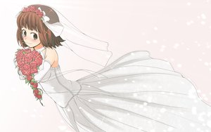 Rating: Safe Score: 8 Tags: amami_haruka idolmaster wedding_dress User: HawthorneKitty