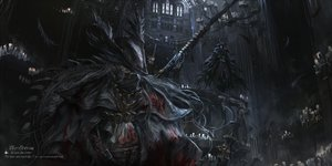 Rating: Safe Score: 54 Tags: blood bloodborne building cape eileen_the_crow feathers gothic gun hat long_hair stu_dts the_hunter weapon User: otaku_emmy