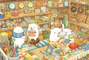 Rating: Safe Score: 56 Tags: animal bear book drink food group necklace original st.kuma umbrella User: otaku_emmy