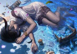 Rating: Safe Score: 343 Tags: animal crab dress original reishin_(tenpurasoba) water wet User: RyuZU