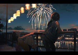 Rating: Safe Score: 59 Tags: 2girls fireworks hakuto_173 night original ponytail shorts User: Flandre93