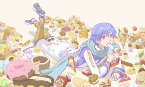 Rating: Safe Score: 10 Tags: all_male blue_hair cake food kaito male pocky purple_eyes short_hair vocaloid User: HawthorneKitty