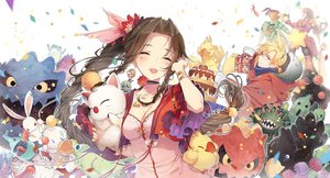 Rating: Safe Score: 96 Tags: aeris_gainsborough bomb_(final_fantasy) breasts brown_hair cactuar chocobo cleavage cloud_strife dress emerald_weapon final_fantasy final_fantasy_vii flowers hungry jumping kieta long_hair magic_pot malboro moogle mover ruby_weapon sabotender tagme_(character) tonberry User: RyuZU