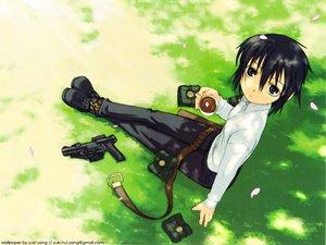 Rating: Safe Score: 18 Tags: gun kino kino_no_tabi kuroboshi_kouhaku weapon User: Oyashiro-sama