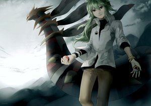Rating: Safe Score: 45 Tags: giratina gray_eyes green_hair n pokemon watermark User: earl-phantomhive