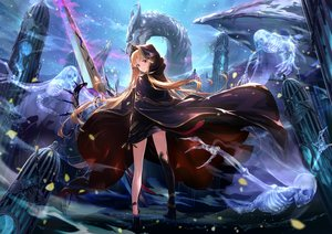 Rating: Safe Score: 162 Tags: blonde_hair bones cape clouds dragon ereshkigal_(fate/grand_order) essual_(layer_world) fate/grand_order fate_(series) hoodie long_hair night purple_eyes skull sky stars sword thighhighs tiara weapon User: BattlequeenYume