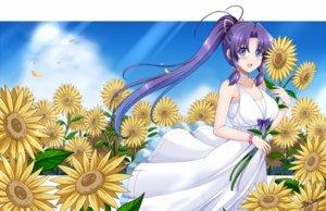 Rating: Safe Score: 9 Tags: blue_eyes blush bow dress flowers long_hair minakami_haruka petals ponytail purple_hair signed sister_princess summer_dress sunflower the-sinner twintails wristwear User: RyuZU