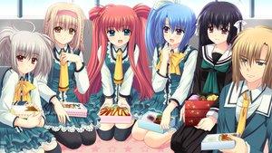 Rating: Safe Score: 30 Tags: food game_cg group hananomiya_ako kona_nako male munemoto_tsubakiko nishimata_aoi seifuku sekai_seifuku_kanojo touno_sakurako yamino_yumeko yashiki_momoharu User: oranganeh