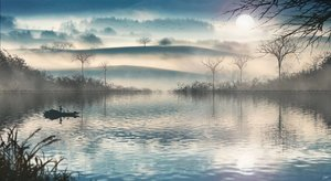 Rating: Safe Score: 79 Tags: boat landscape original reflection scenic signed skyrick9413 sunset tree User: mattiasc02