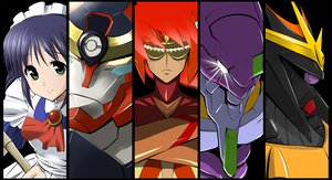 Rating: Questionable Score: 14 Tags: andou_mahoro gainax gunbuster neon_genesis_evangelion nono tengen_toppa_gurren_lagann User: lost91colors