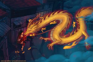 Rating: Safe Score: 85 Tags: building dragon night original qinni User: FormX