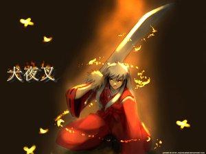 Rating: Safe Score: 25 Tags: animal_ears inuyasha inuyasha_(character) japanese_clothes necklace sword weapon white_hair yellow_eyes User: Oyashiro-sama