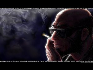 Rating: Safe Score: 5 Tags: cowboy_bebop jet_black smoking User: Oyashiro-sama
