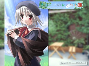 Rating: Safe Score: 3 Tags: hat red_eyes school_uniform tsukishiro_hikari white_hair wind:_a_breath_of_heart User: Oyashiro-sama