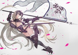 Rating: Questionable Score: 50 Tags: breasts chain cleavage elbow_gloves fate/grand_order fate_(series) gloves jeanne_d'arc_alter jeanne_d'arc_(fate) long_hair nanaya_(daaijianglin) spear sword thighhighs weapon yellow_eyes User: Jahta