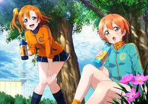 Rating: Safe Score: 25 Tags: 2girls aqua_eyes blush clouds drink flowers grass hoodie hoshizora_rin kneehighs kousaka_honoka love_live!_school_idol_project orange_hair ponytail short_hair skirt sky tagme_(artist) tree yellow_eyes User: RyuZU