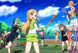 Rating: Safe Score: 88 Tags: akaza_akari baseball_bat blonde_hair blue_eyes funami_yui furutani_himawari ikeda_chitose ikeda_chizuru jpeg_artifacts muku-coffee nosebleed oomuro_sakurako sugiura_ayano tennis toshinou_kyouko yoshikawa_chinatsu yuru_yuri User: Wiresetc