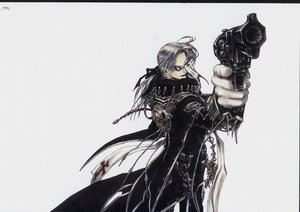 Rating: Safe Score: 9 Tags: abel_nightroad glasses gloves gray_hair gun ribbons thores_shibamoto trinity_blood weapon white User: atlantiza