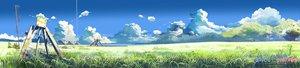 Rating: Safe Score: 88 Tags: clouds dualscreen grass kumo_no_mukou_yakusoku_no_basho nobody scenic shinkai_makoto sky tree User: Oyashiro-sama