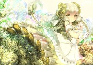 Rating: Safe Score: 112 Tags: braids dress flowers gloves horns long_hair original rose yumeichigo_alice User: FormX