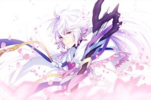Rating: Safe Score: 38 Tags: all_male fate/grand_order fate_(series) long_hair male merlin_(fate/grand_order) petals purple_eyes staff waifu2x white_hair xia_(ryugo) User: otaku_emmy