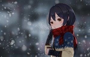 Rating: Safe Score: 136 Tags: aliasing drink levi9452 love_live!_school_idol_project scarf snow sonoda_umi winter User: Flandre93