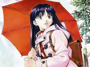 Rating: Questionable Score: 14 Tags: flcl ninamori_eri rain sadamoto_yoshiyuki umbrella water User: 秀悟
