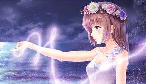 Rating: Safe Score: 135 Tags: alc_(ex2_lv) brown_hair crying dress night original purple_eyes sky User: Shupa