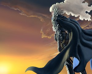 Rating: Safe Score: 18 Tags: all_male armor berserk cape clouds griffith long_hair male sky sunset sword tagme_(artist) weapon white_hair User: Paladin2k9