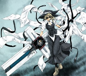 Rating: Safe Score: 99 Tags: kirisame_marisa ledjoker07 parody touhou trigun User: HawthorneKitty