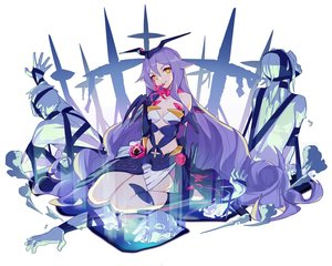 Rating: Safe Score: 27 Tags: bodysuit elbow_gloves gloves honkai_impact jinyuan712 long_hair magic purple_hair sirin white yellow_eyes User: otaku_emmy
