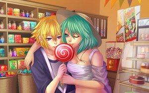 Rating: Safe Score: 13 Tags: candy food lollipop male original yoneyu User: gnarf1975