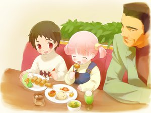 Rating: Safe Score: 0 Tags: cuffs food gayarou kiriyama_sakura pink_hair red_eyes sakura_musubi User: Xtea