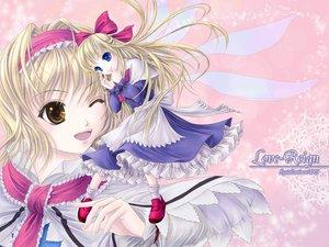 Rating: Safe Score: 8 Tags: alice_margatroid blonde_hair blue_eyes doll dress long_hair luxia_continent ribbons shanghai_doll short_hair touhou wings yellow_eyes yuki_shuuka User: Oyashiro-sama