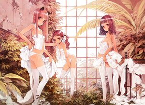 Rating: Questionable Score: 82 Tags: animal_ears brown_hair flat_chest littlewitch loli long_hair nipples no_bra oyari_ashito panties red_eyes thighhighs twintails underwear User: BattlequeenYume