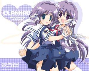 Rating: Safe Score: 24 Tags: 2girls clannad fujibayashi_kyou fujibayashi_ryou hizuki_yayoi twins watermark User: 秀悟