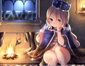 Rating: Questionable Score: 63 Tags: blonde_hair blue_eyes cape crown fire loli long_hair neit_ni_sei nopan original water wet User: BattlequeenYume